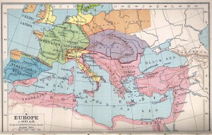 Eastern Roman Empire at 600 AD